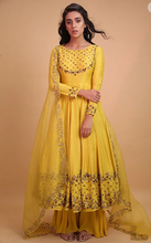 Load image into Gallery viewer, Astha Narang Yellow Mustard Anarkali - The Grand Trunk
