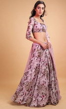 Load image into Gallery viewer, Astha Narang Lavender Floral Print Lehenga - The Grand Trunk