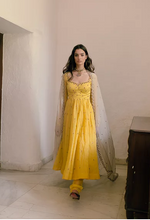 Load image into Gallery viewer, Astha Narang Yellow Anarkali with Churidar - The Grand Trunk