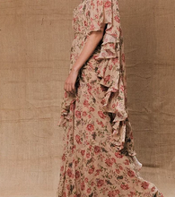 Load image into Gallery viewer, Astha Narang Beige Floral Printed Drape Saree - The Grand Trunk