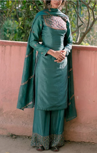 Load image into Gallery viewer, Pastel Green Long Kurti With Plazzo - The Grand Trunk