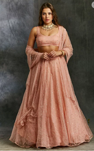 Load image into Gallery viewer, Astha Narang Pink and Gold Polka Dot Lehenga - The Grand Trunk
