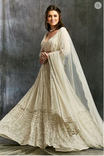 Load image into Gallery viewer, Astha Narang White and Silver Sequin Net Lehenga - The Grand Trunk