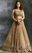 Load image into Gallery viewer, Astha Narang Beige Threadwork Lehenga - The Grand Trunk