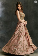 Load image into Gallery viewer, Astha Narang Pink Sequin Jaal Lehenga - The Grand Trunk