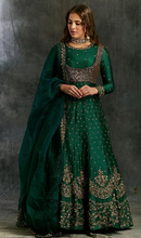 Load image into Gallery viewer, Astha Narang Dark Green Emerald Anarkali - The Grand Trunk