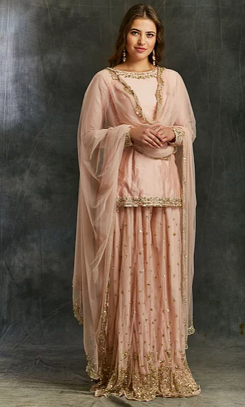 Astha Narang Pink Silk Kurta - The Grand Trunk