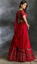 Load image into Gallery viewer, Astha Narang Dark Pink and Gold Lehenga with Choli - The Grand Trunk