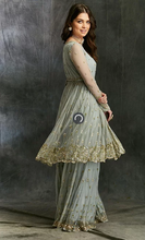 Load image into Gallery viewer, Astha Narang Sky Blue Flare Kurta - The Grand Trunk
