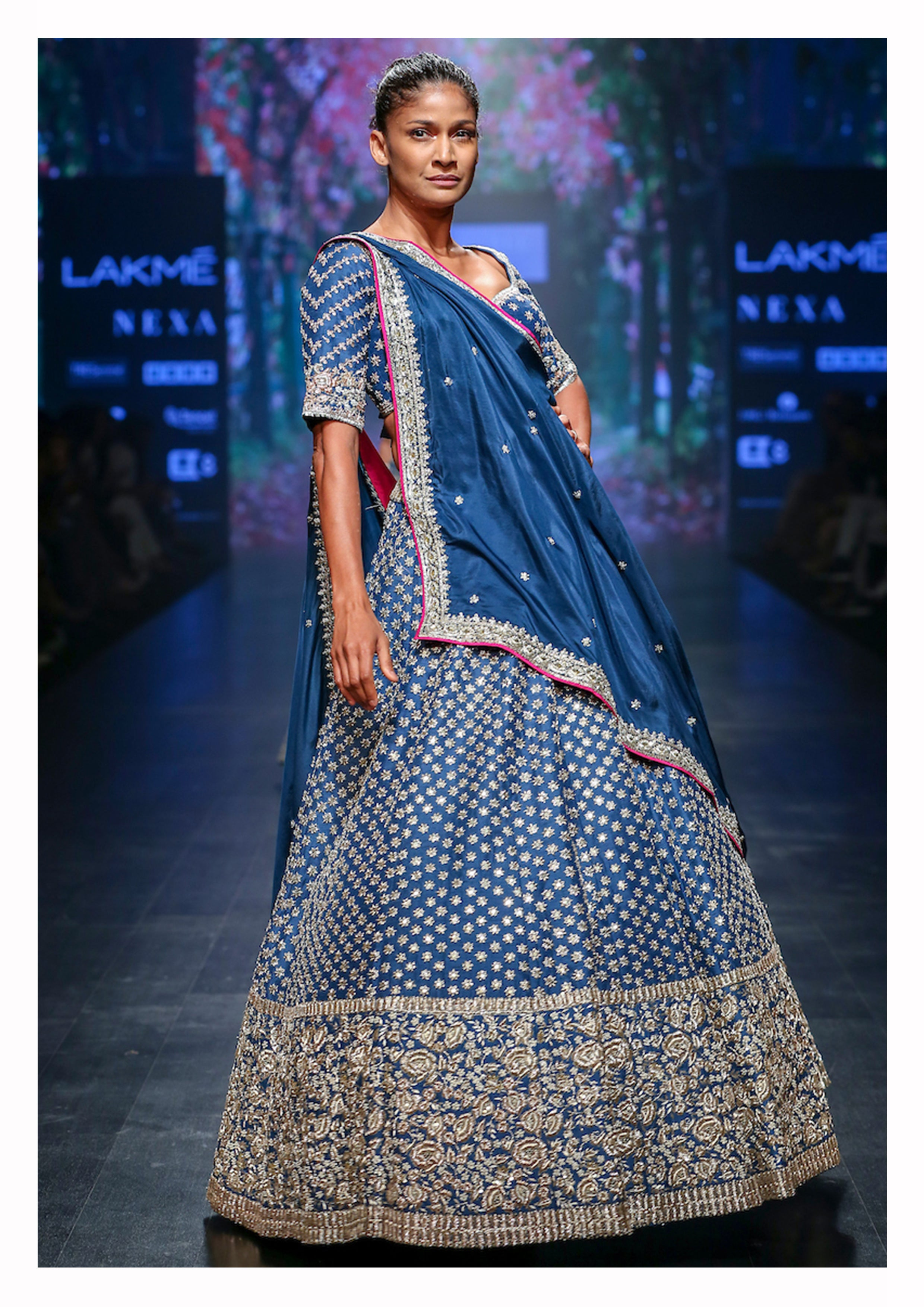 Hand Embroidered Lehenga Set - The Grand Trunk