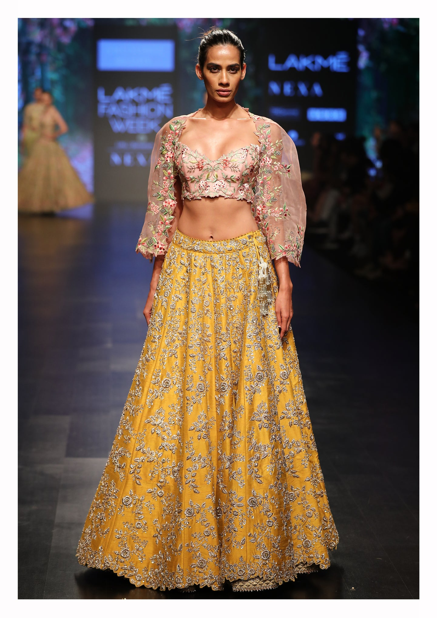 Jaal Lehenga With Corset & Cutwork Cape - The Grand Trunk