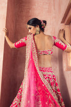 Load image into Gallery viewer, Red Rawsilk Zardozi Embroidery Lehenga - The Grand Trunk