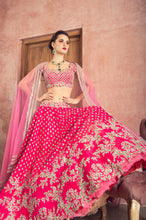 Load image into Gallery viewer, Embellished Rawsilk Zardozi Embroidery Lehenga - The Grand Trunk