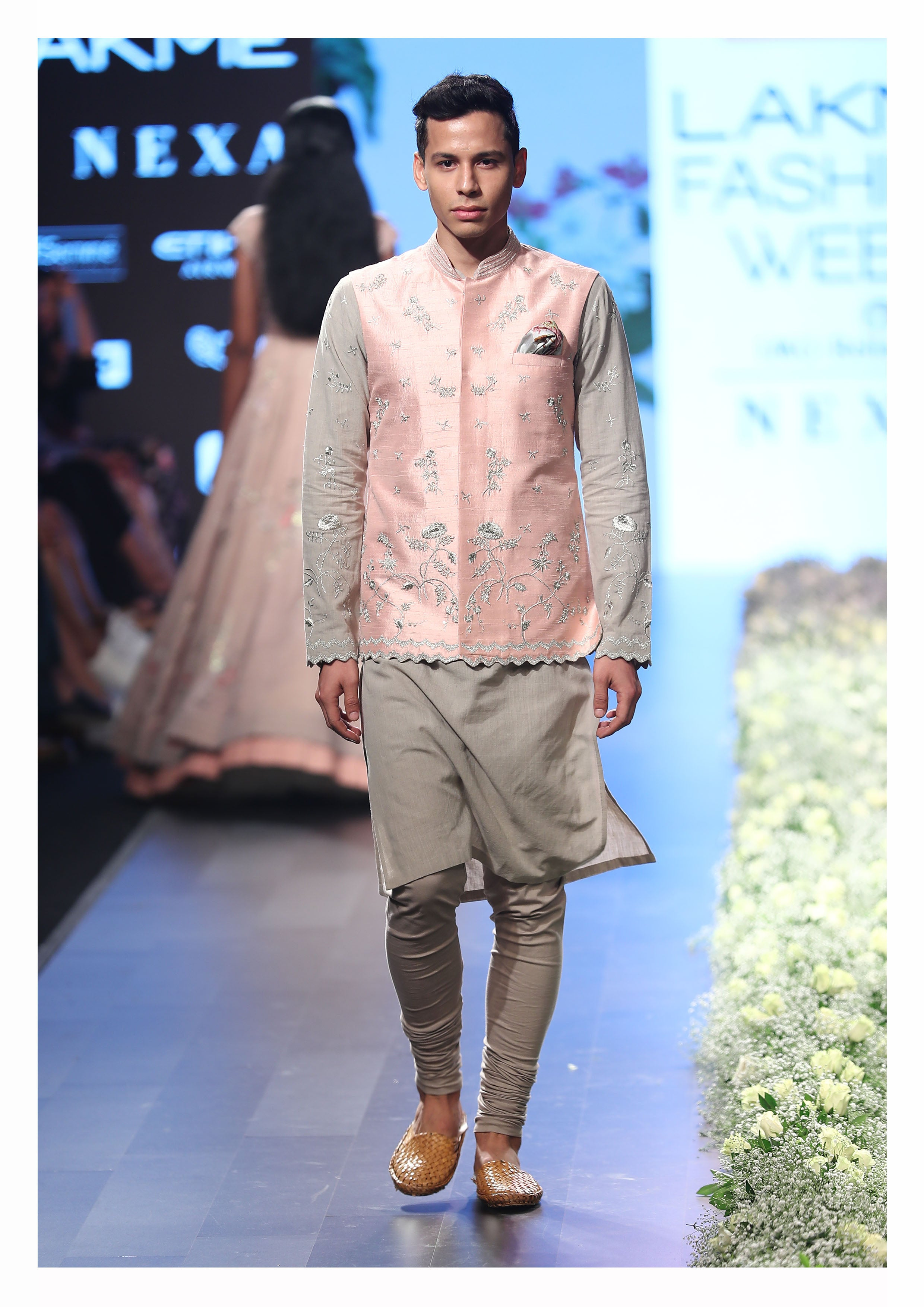 Dull Pink Khadi & Raw Silk Kurta set - The Grand Trunk