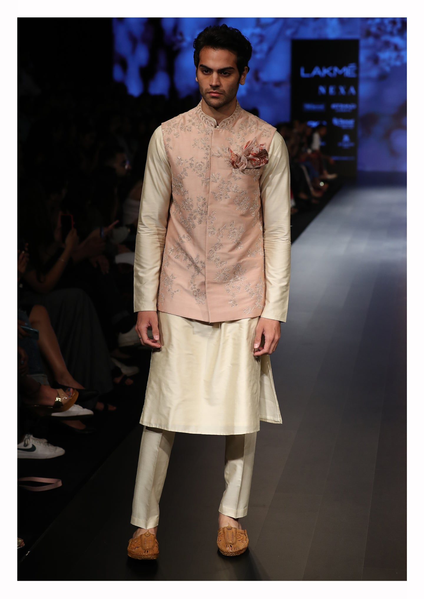 Embroidered Nehru Jacket with Kurta and Churidar - The Grand Trunk