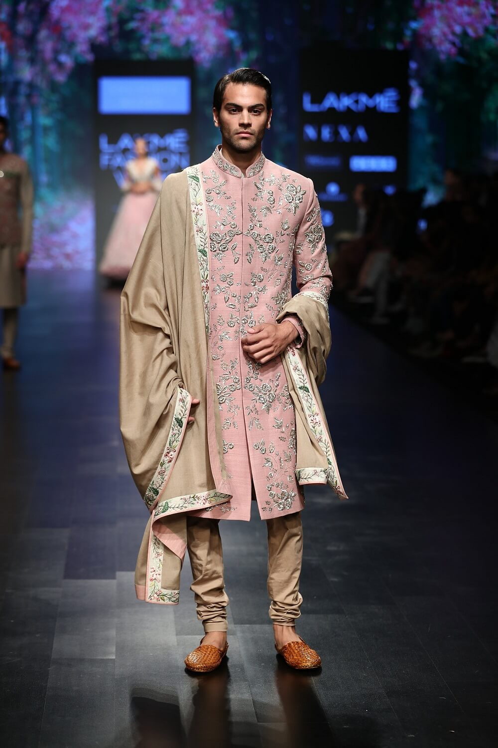Embroidered Sherwani With Churidaar & Dupatta - The Grand Trunk