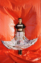 Load image into Gallery viewer, Lycra top + AK-OK printed skirt+ belt - The Grand Trunk