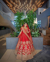 Load image into Gallery viewer, Real Bride Archal and Groom Shon in Sabyasachi @ The Grand Trunk - The Grand Trunk