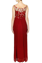 Load image into Gallery viewer, Maroon gota pati gown - The Grand Trunk