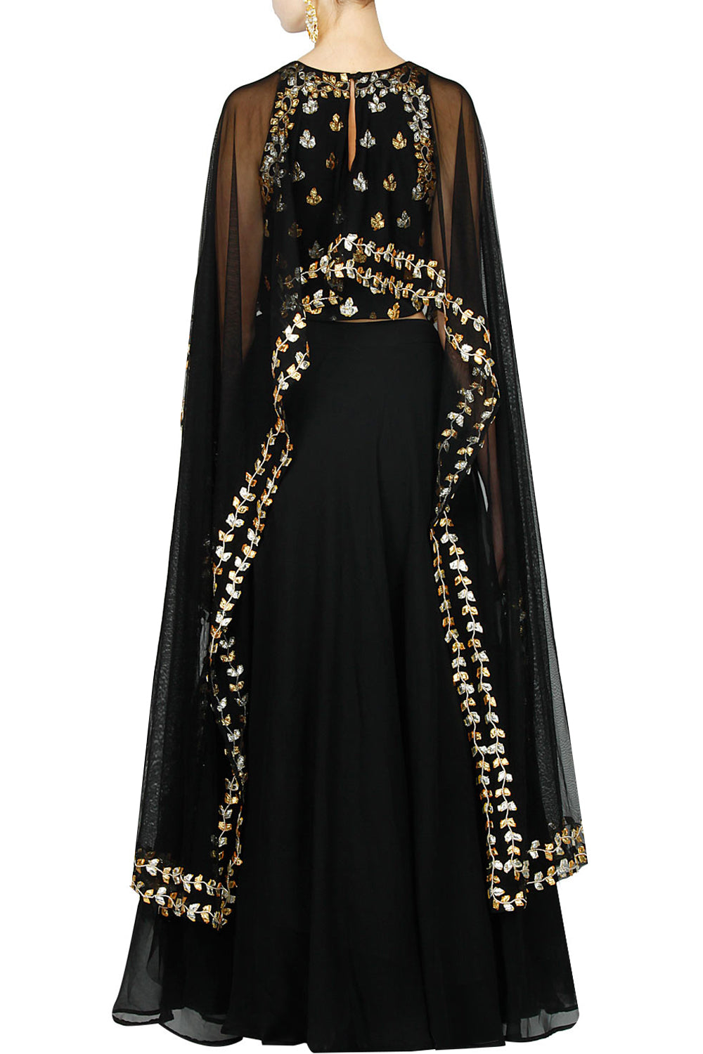 Black gota pati lengha set - The Grand Trunk