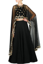 Load image into Gallery viewer, Black gota pati lengha set - The Grand Trunk