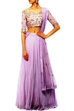 Load image into Gallery viewer, Lavender lengha set - The Grand Trunk