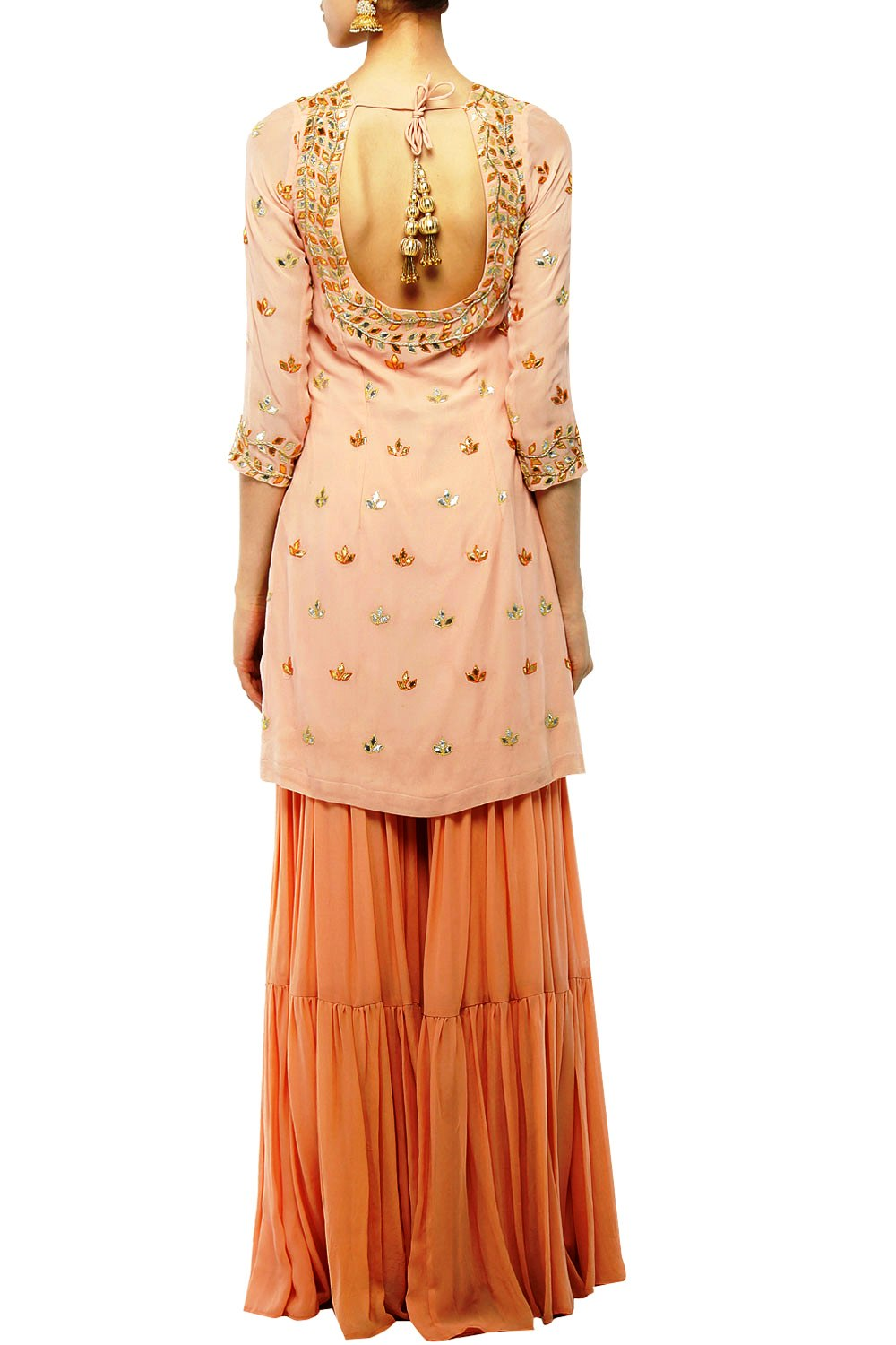 Baby pink sharara set - The Grand Trunk