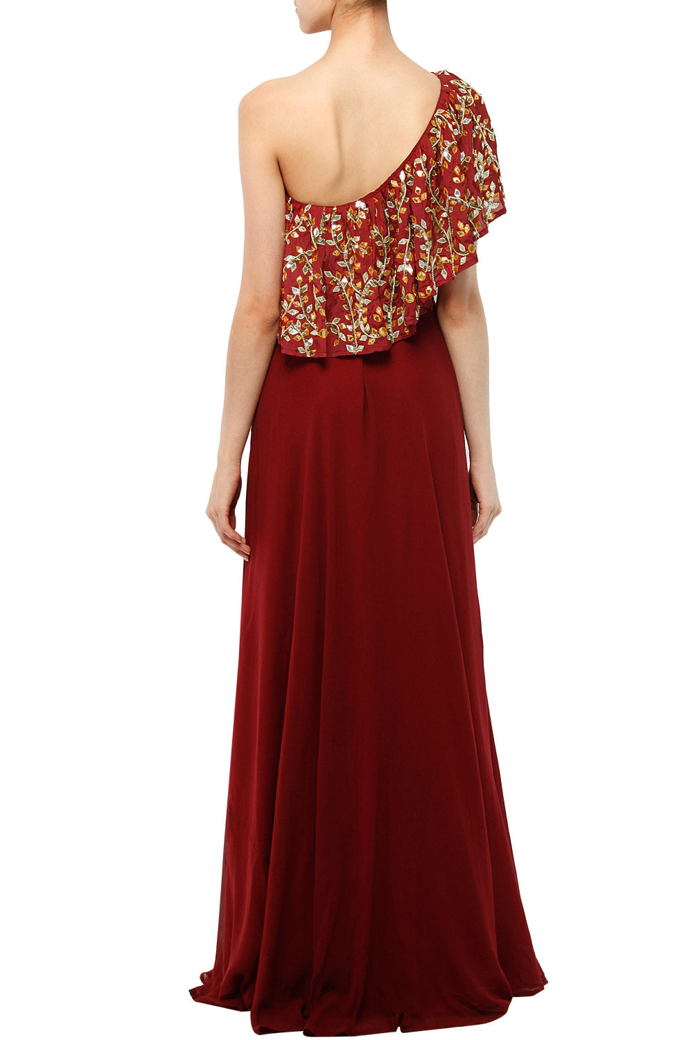 Maroon top & skirt set - The Grand Trunk