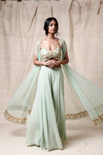 Load image into Gallery viewer, Mint green  cape set - The Grand Trunk