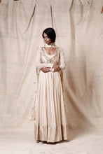 Load image into Gallery viewer, Cream anakali with jacket set - The Grand Trunk