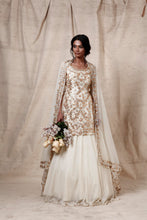Load image into Gallery viewer, cream lengha set - The Grand Trunk
