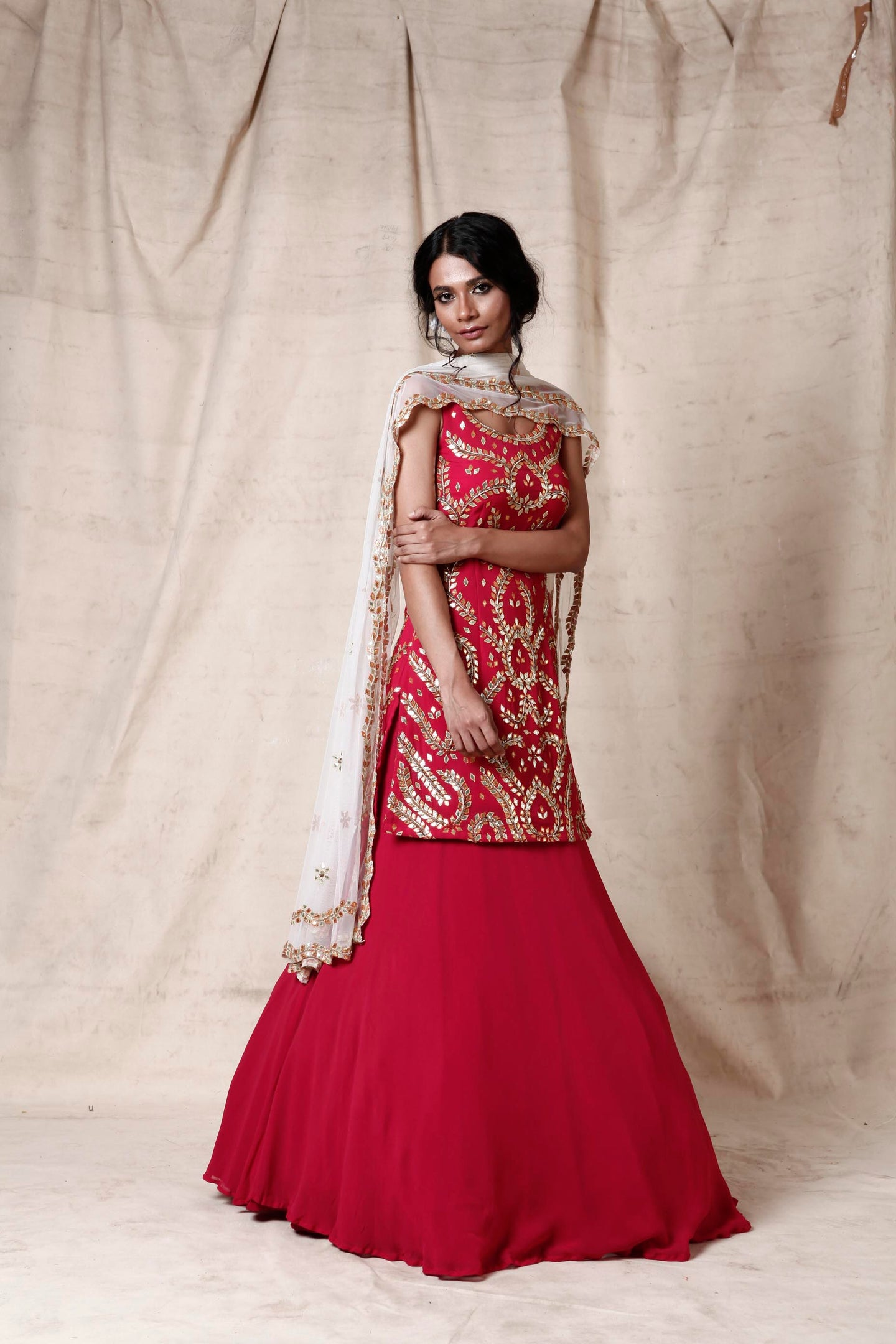 Magenta lengha set - The Grand Trunk