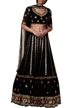 Load image into Gallery viewer, Black  lengha set - The Grand Trunk