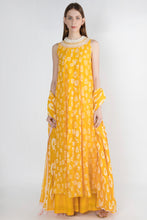 Load image into Gallery viewer, Masaba Gupta Yellow Gulshan Print Anarkali Set - The Grand Trunk