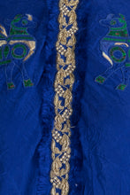 Load image into Gallery viewer, blue kurta with multipanel printed pachwork pants - The Grand Trunk