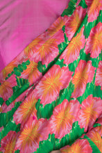Load image into Gallery viewer, PINK SAVANNAH PRINT SARI & TWO TONE PINK BLOUSE PIECE - The Grand Trunk