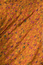 Load image into Gallery viewer, MUSTARD FLORAL RUSH SARI & BLOUSE PIECE - The Grand Trunk