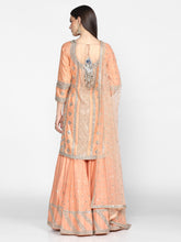 Load image into Gallery viewer, Abhinav Mishra Peach Sharara Set - The Grand Trunk
