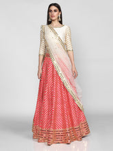 Load image into Gallery viewer, Abhinav Mishra  Pink And Off White  Lehenga Set - The Grand Trunk