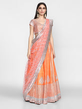 Load image into Gallery viewer, Abhinav Mishra  Orange Lehenga Set - The Grand Trunk