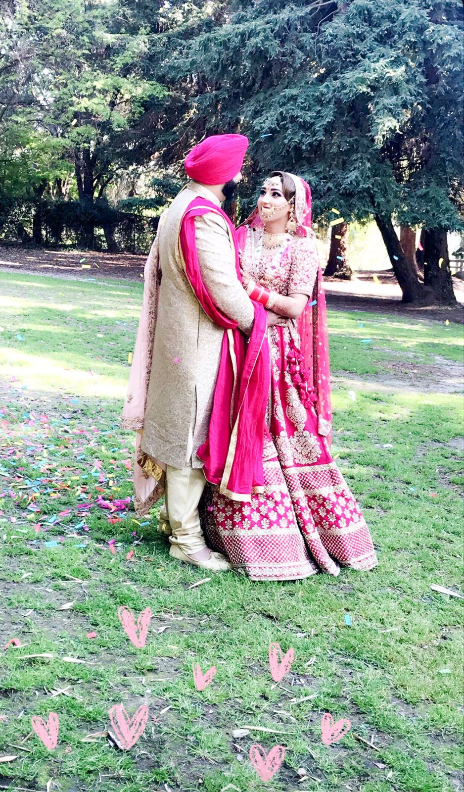 Real Bride Navneet Brar in Sabyasachi Lehenga @ The Grand Trunk - The Grand Trunk