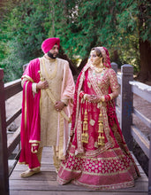 Load image into Gallery viewer, Real Bride Navneet Brar in Sabyasachi Lehenga @ The Grand Trunk - The Grand Trunk
