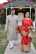 Load image into Gallery viewer, Nikhat 25th Wedding Anniversary in Sabyasachi outfit @ The Grand Trunk - The Grand Trunk