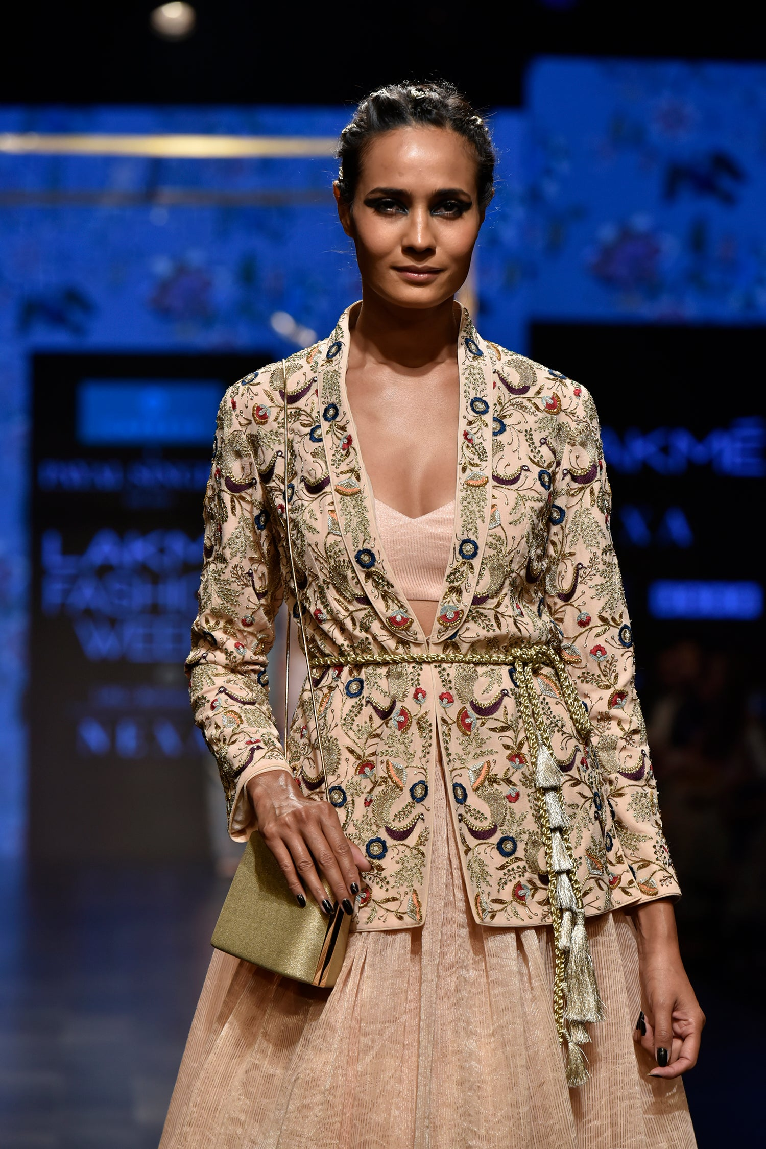 Payal Singhal Diyora Jacket Skirt Set