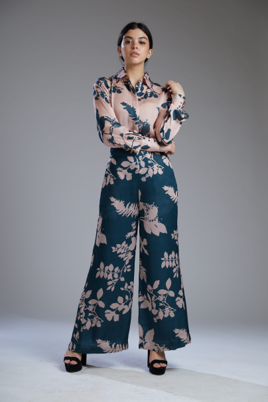 PINK AND TEAL FLORAL PANTS - The Grand Trunk