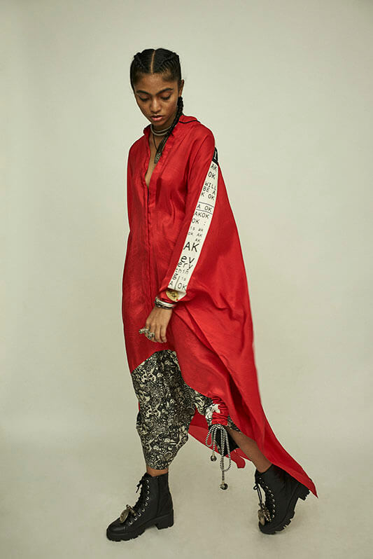Shirt cape+ doll printed drawstring pants - The Grand Trunk