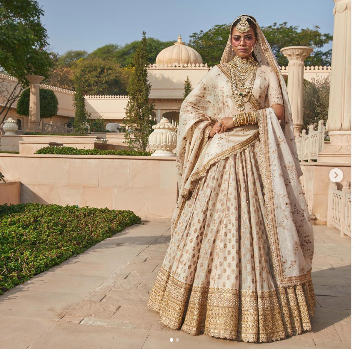 Sabyasachi Ivory Lehenga - The Grand Trunk