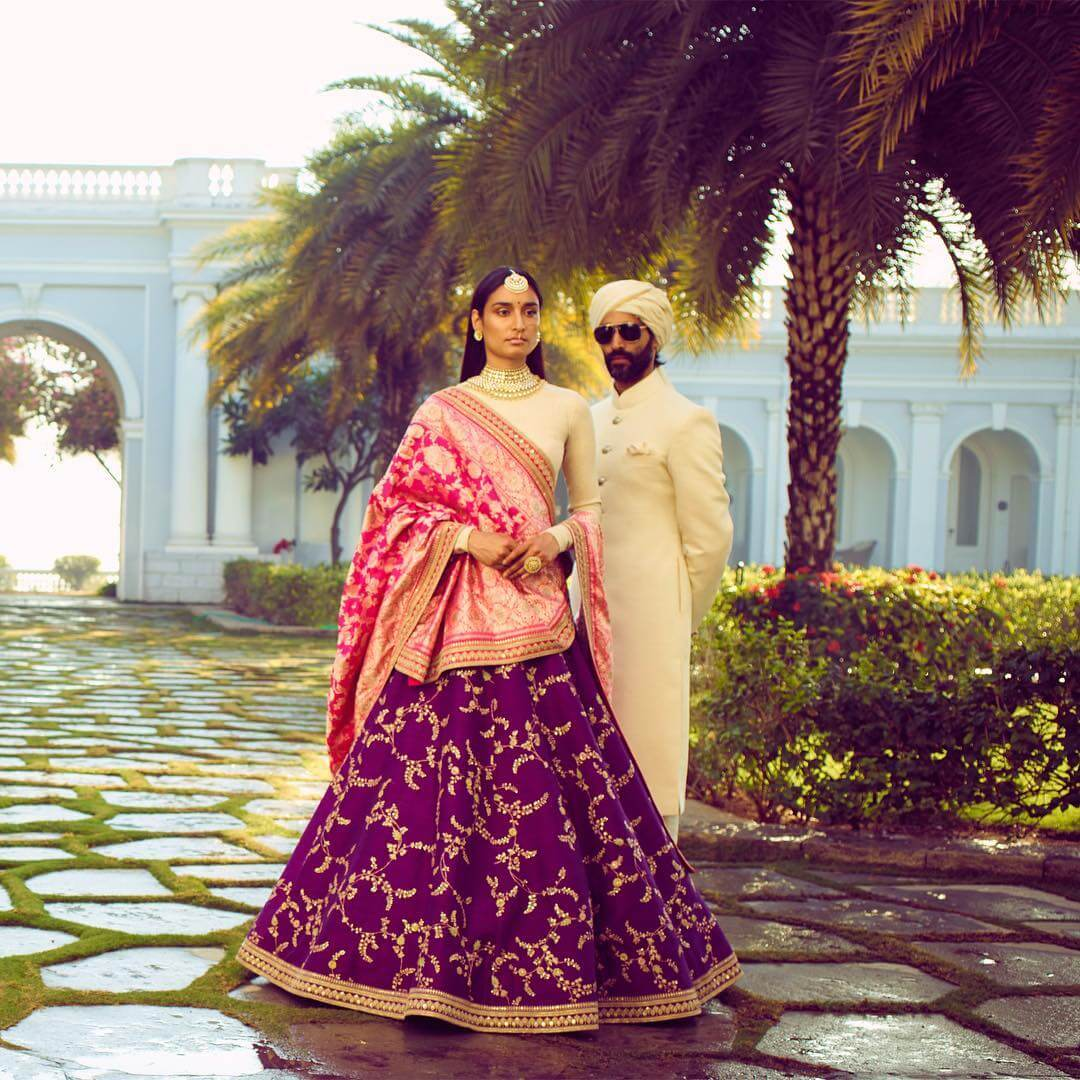 Sabyasachi Purple Lehenga - The Grand Trunk