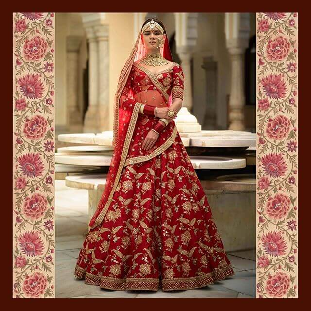 Sabyasachi Devi Collection Chamakali Lehenga - The Grand Trunk