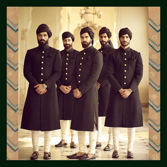 Sabyasachi Black Sherwani - The Grand Trunk